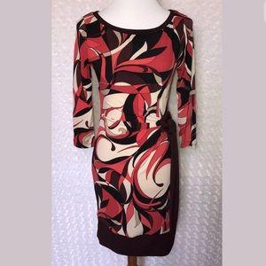 New York & co. Retro swirl Career Knit dress xs